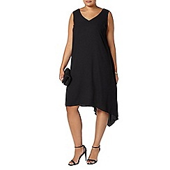 Evans - Black asymmetric dress