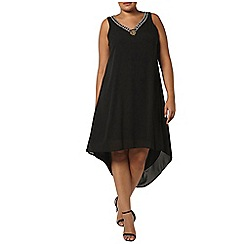 Evans - Black high low hem dress