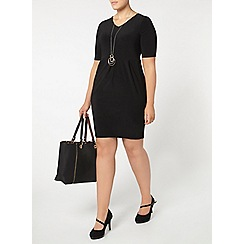 Evans - Black busty fit pocket dress