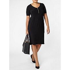 Evans - Black midi dress
