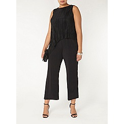 Evans - Black pleated jumpsuit