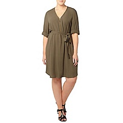Evans - Collection khaki shirt dress