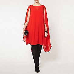 Evans - Collection red chiffon dress