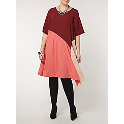 Evans - Collection pink colour block dress