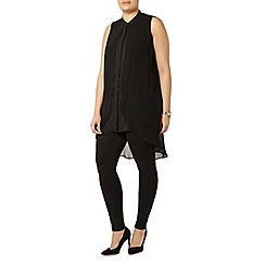 Evans - Collection black high low hem dress