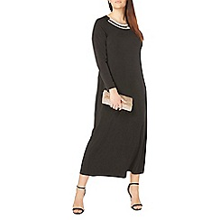 Evans - Black embellished neck maxi dress