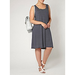 Evans - Navy striped summer dress