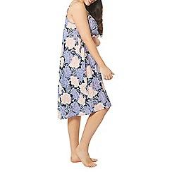 Evans - Purple floral strappy dress