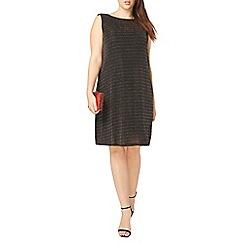 Evans - Black glitter stripe dress
