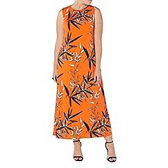 Evans - Orange floral print maxi dress