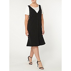 Evans - Black 2in1 dress