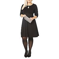 Evans - Black keyhole dress