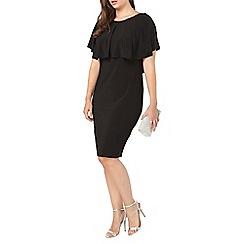 Evans - Black overlay midi dress