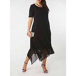 Evans - Black hanky hem dress