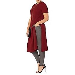 Evans - Red side split midi dress