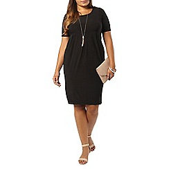 Evans - Black longline pocket dress