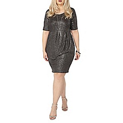 Evans - Evans black glitter pocket dress