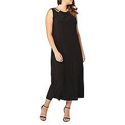Evans - Black embellished trim maxi dress