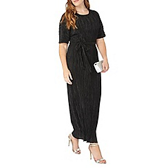 Evans - Black pleated t-shirt dress
