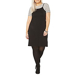 Evans - Black and white 2-in-1 dress