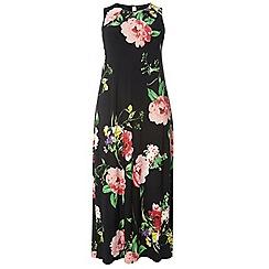 Evans - Black floral maxi dress