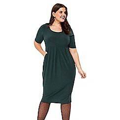 Evans - Green jersey pocket dress