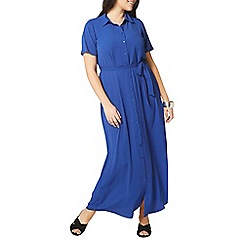 Evans - Blue shirt maxi dress