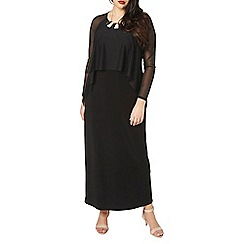Evans - Black mesh frill dress