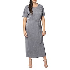 Evans - Grey pleated maxi dress