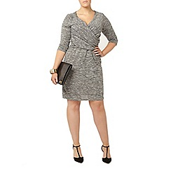 Evans - Hourglass grey wrap dress
