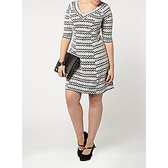 Evans - White printed hourglass fit dress
