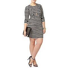 Evans - Striped hourglass fit bodycon dress