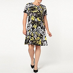 Evans - Smudge print swing dress