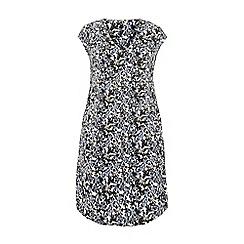 Evans - Blue floral pocket dress