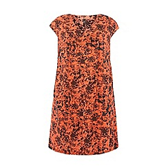 Evans - Orange floral kaftan dress