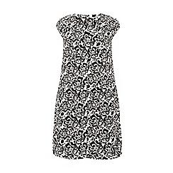 Evans - Mono floral print pocket dress