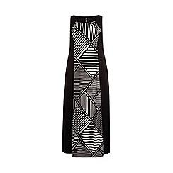 Evans - Mono print panel maxi dress