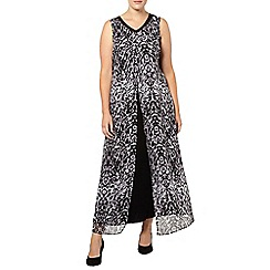 Evans - Animal print chiffon layer maxi dress