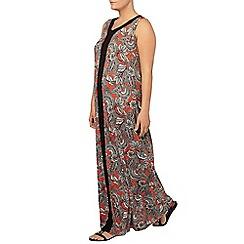 Evans - Paisley panel maxi dress