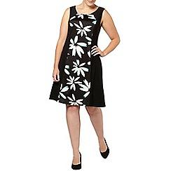 Evans - Floral panel midi dress