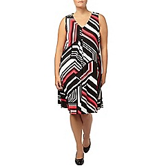 Evans - Multi chevron print pleat dress