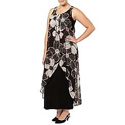 Evans - Floral overlay maxi dress