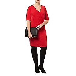 Evans - Red side rouched dress