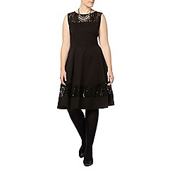 Evans - Black lace panel dress