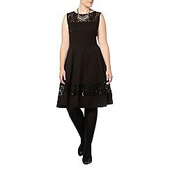 Evans - Black lace panel dress