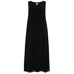 Evans - Black split front maxi dress