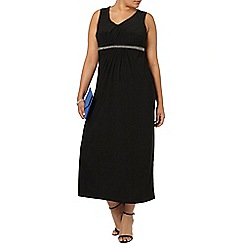 Evans - Black embellished maxi dress