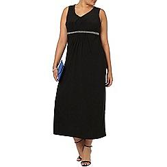Evans - Black embellished maxi dress