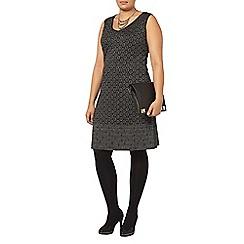 Evans - Silver lace shift dress