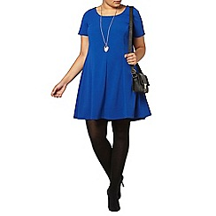 Evans - Blue crepe swing dress